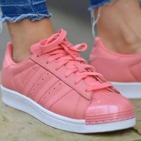 Adidas Super Star Rosas Con Puntera Zapatillas en Mercado