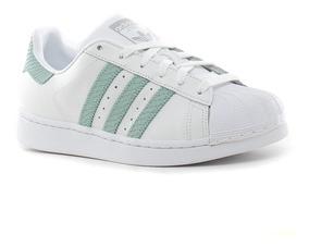 adidas superstar blanco y verde