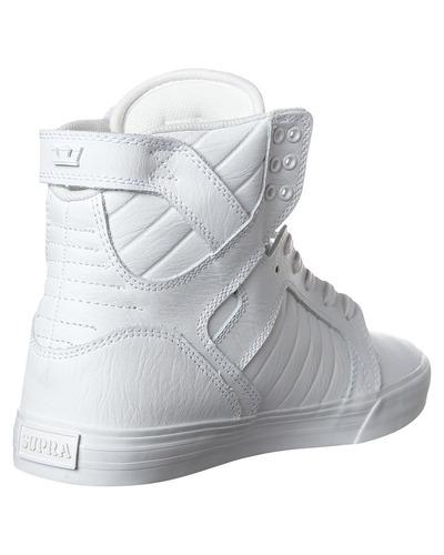 zapatillas - supra skytop - white / white