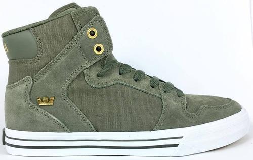 zapatillas supra vaider olive botitas unisex nuevo original