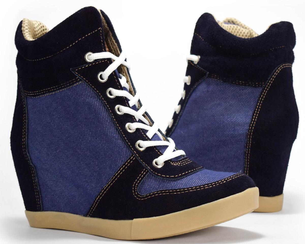 e042f287c6a7c zapatillas taco escondido sneaker ciro art 680 cuero y jean. Cargando zoom.