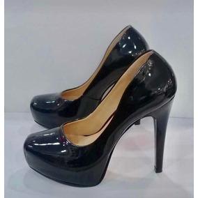 9edd7cd90ec7c Zapatillas Pumps Negros D Charol Mujer - Zapatos en Mercado Libre México