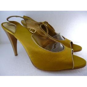 22a295b720b35 O Zapato Zapatilla Tacón Westies Makian Textil Dorado Oferta