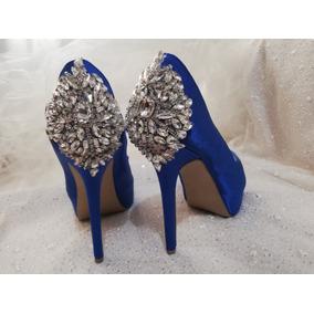 983beb5191 Zapatos Azules Para Novia Mujer Zapatillas - Zapatos en Mercado ...