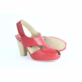 c5b968df96e Zapatillas Zapatos Dama 6851 Onena Juve Collection Rojo Cafe