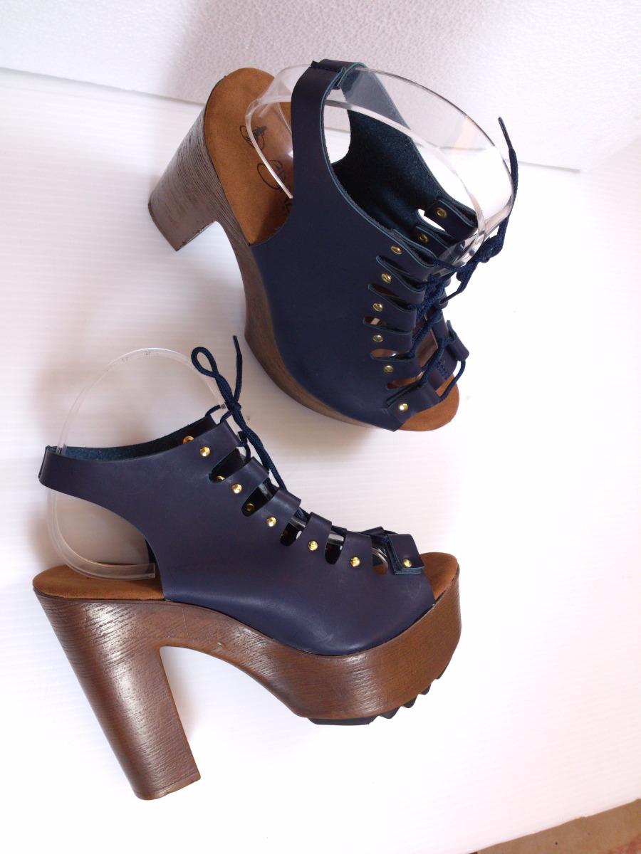 Zapatillas tacones azul marino sexys altas moda con agujetas en mercado libre - Con 2 tacones ...