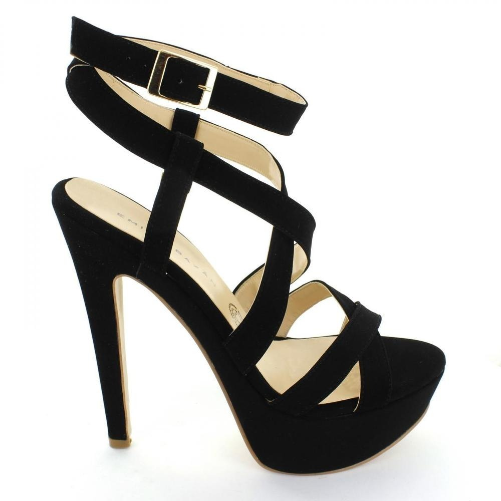 zapatillas tacones negro sexys sandalias altas emilio bazan. Cargando zoom. 7e565fcfa56e