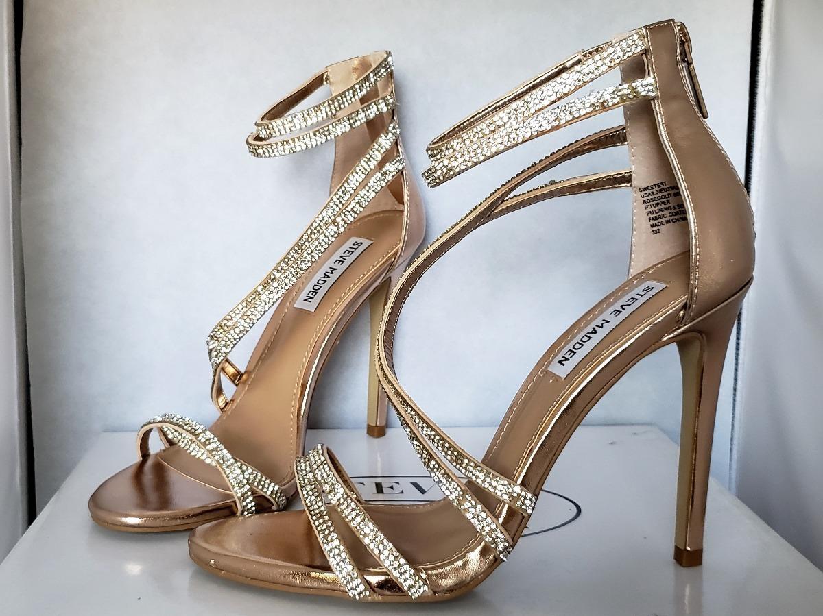 6c0282c6cf5 Cargando zoom... 3 zapatos zapatillas tacones steve madden sweetest rose  gold