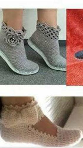 zapatillas tejidas todas las tallas damas y niñas