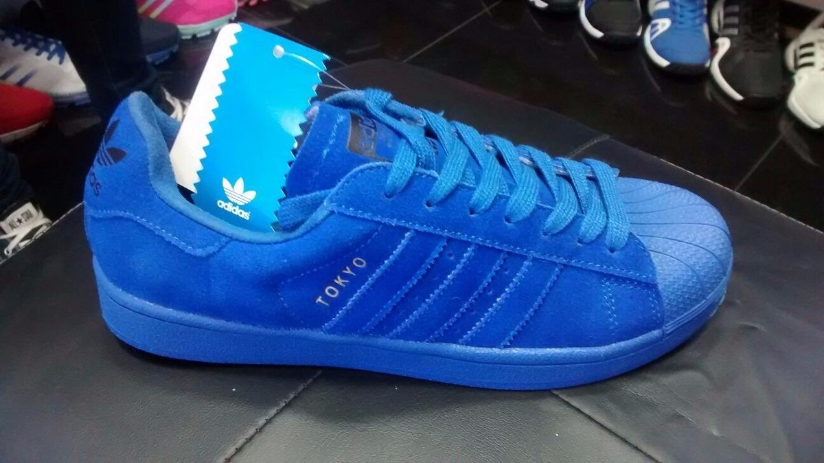 zapatillas adidas superstar azules