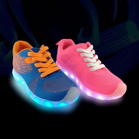 zapatillas tenis con luz led bateria recargable envío gratis
