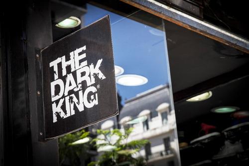 zapatillas the dark king. skate hip hop va black blue charol