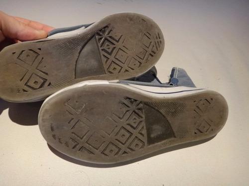 zapatillas tipo botita  de nene talle 35 usada (quilmes)