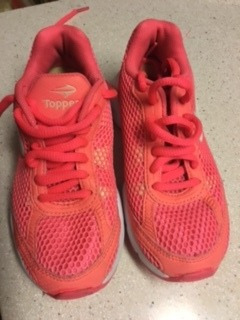 zapatillas topper coral naranja talle 30 impecables!!