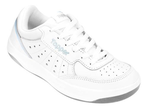 zapatillas topper lady x forcer cuero tenis originales