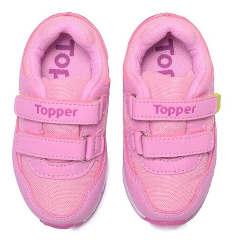 zapatillas topper lele velcro bebé cuero sintético running