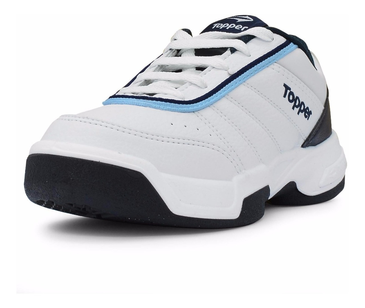 5a8655a2db Zapatillas Topper Modelo Tenis Tie Break 3 Blanco/azul - $ 1.999,00 ...