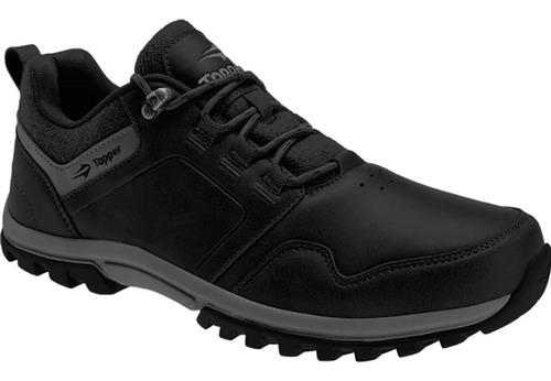 zapatillas topper outdoor urbano kang low negro o marron abc