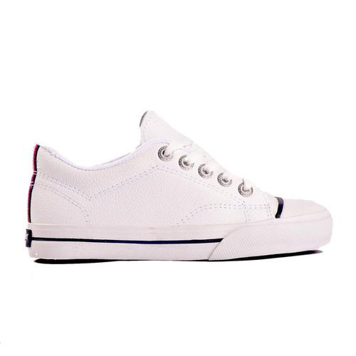 zapatillas topper profesional 2 kids cuero blanco local