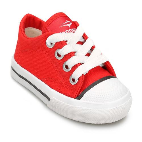 zapatillas topper profesional bebe + rojo