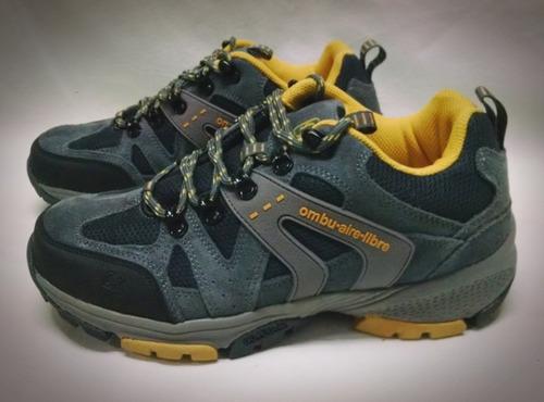 zapatillas trekking ombu aire libre de cuero del 39 al 41