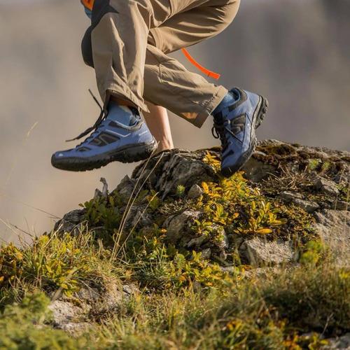 zapatillas trekking quechua arpenaz 50 junior azul