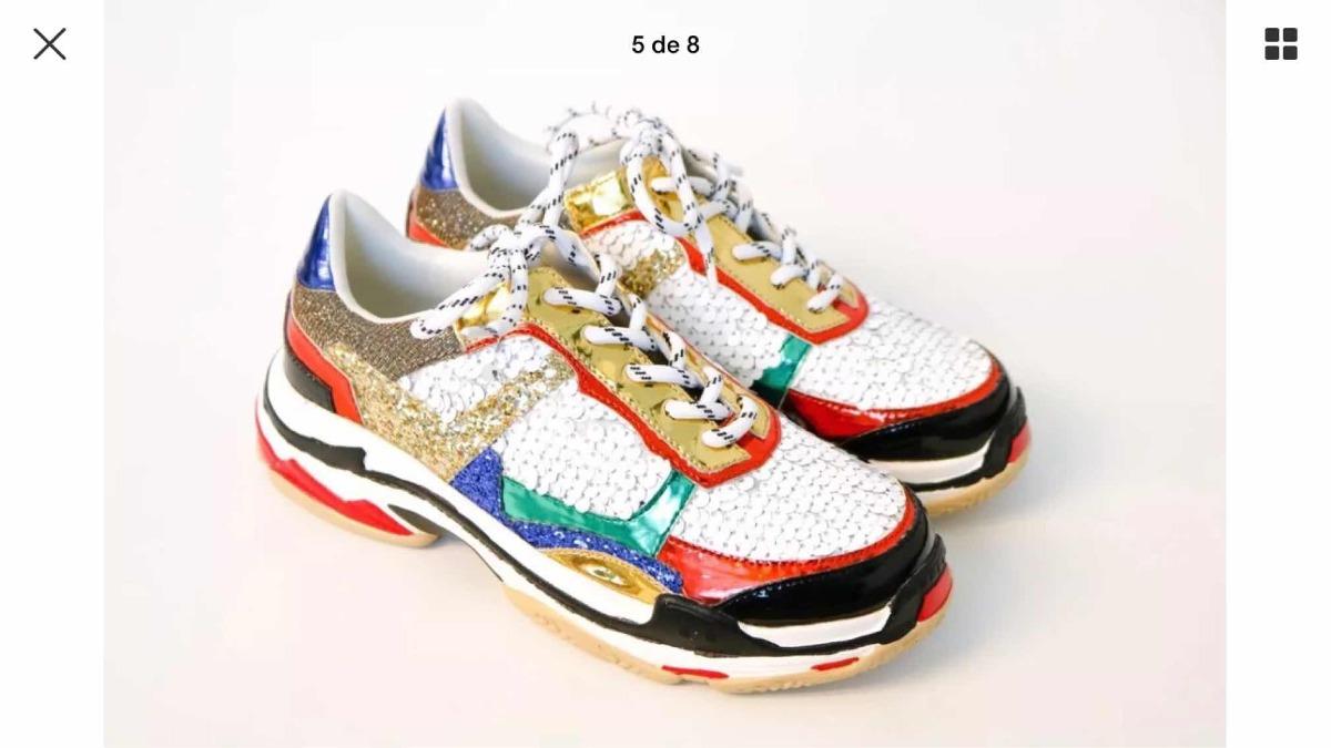 40 Bordadas 8 26 Talle 500 Cm2 Ugly Sneakers Zapatillas Nuevas L5AR34j