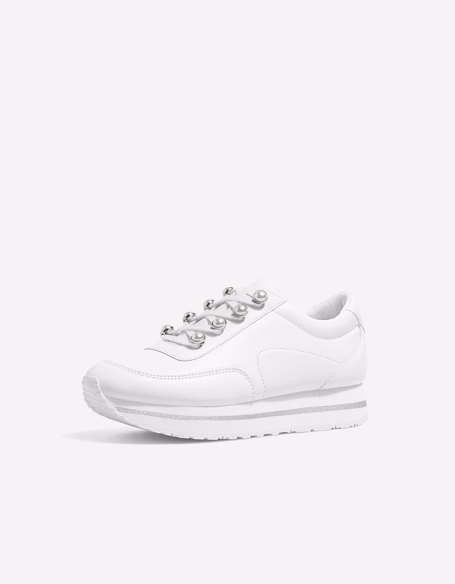Boutique en ligne 908e3 bf43d zapatillas blancas stradivarius