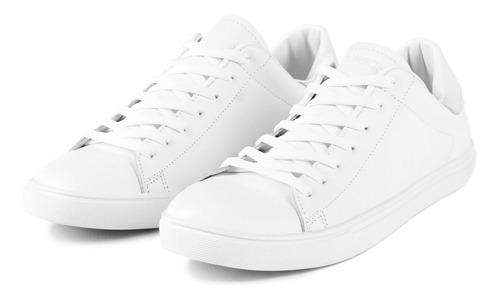 zapatillas urbanas de cuero blancas de hombre bourbon store