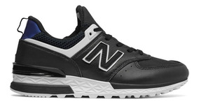 zapatillas urbanas mujer new balance 574 nubuck negra