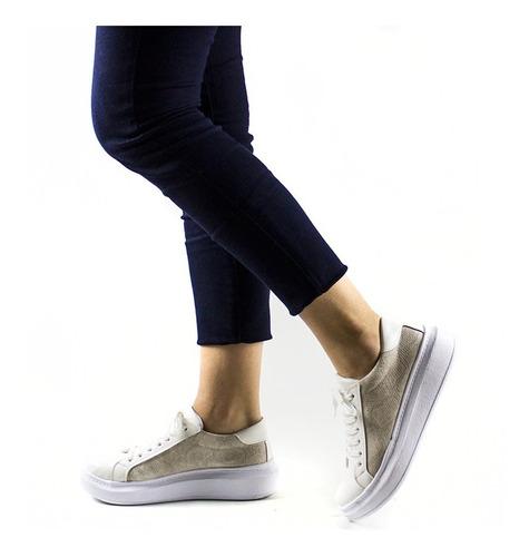 zapatillas urbanas mujer plataforma sneakers blancas 2019