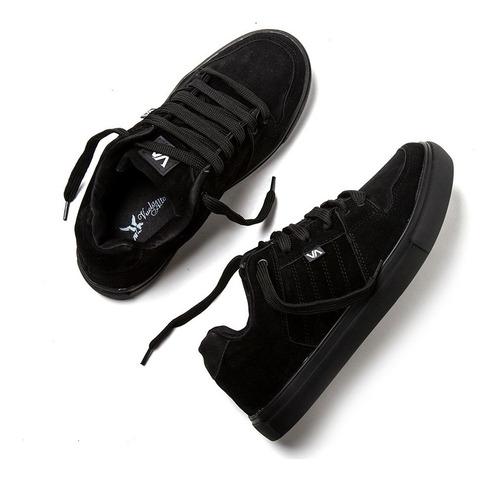 zapatillas valimited skate urbanas cuero envio gratis black