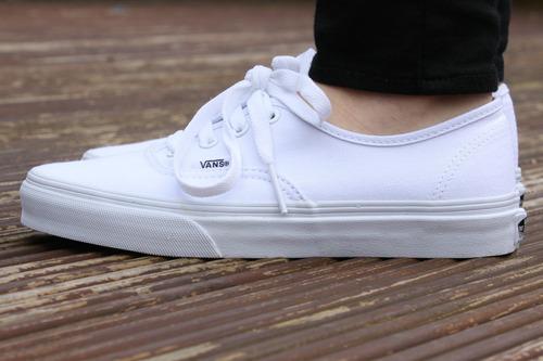 zapatillas vans blanco originales authentic full 50 vans