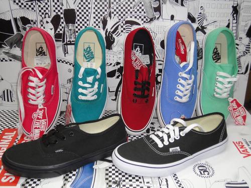 zapatillas vans mod authentic!!! 100% original! full black!!