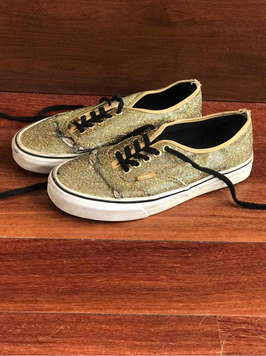 2vans mujer zapatillas doradas