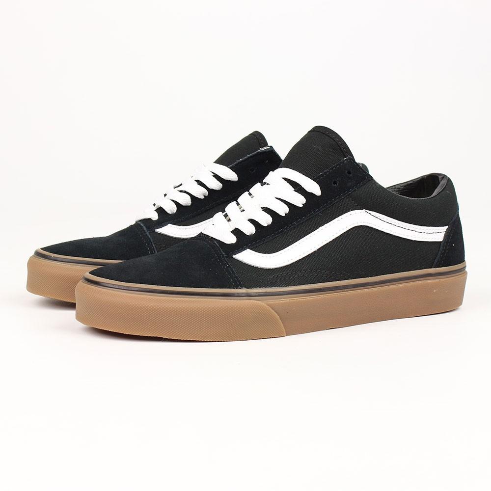 vans old skool black gum