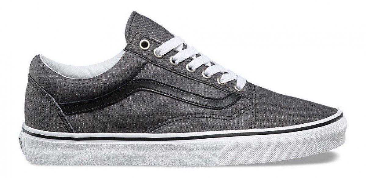 b712222924 Zapatillas Vans Old Skool (c l) Chambray gris Con Negro -   2.900