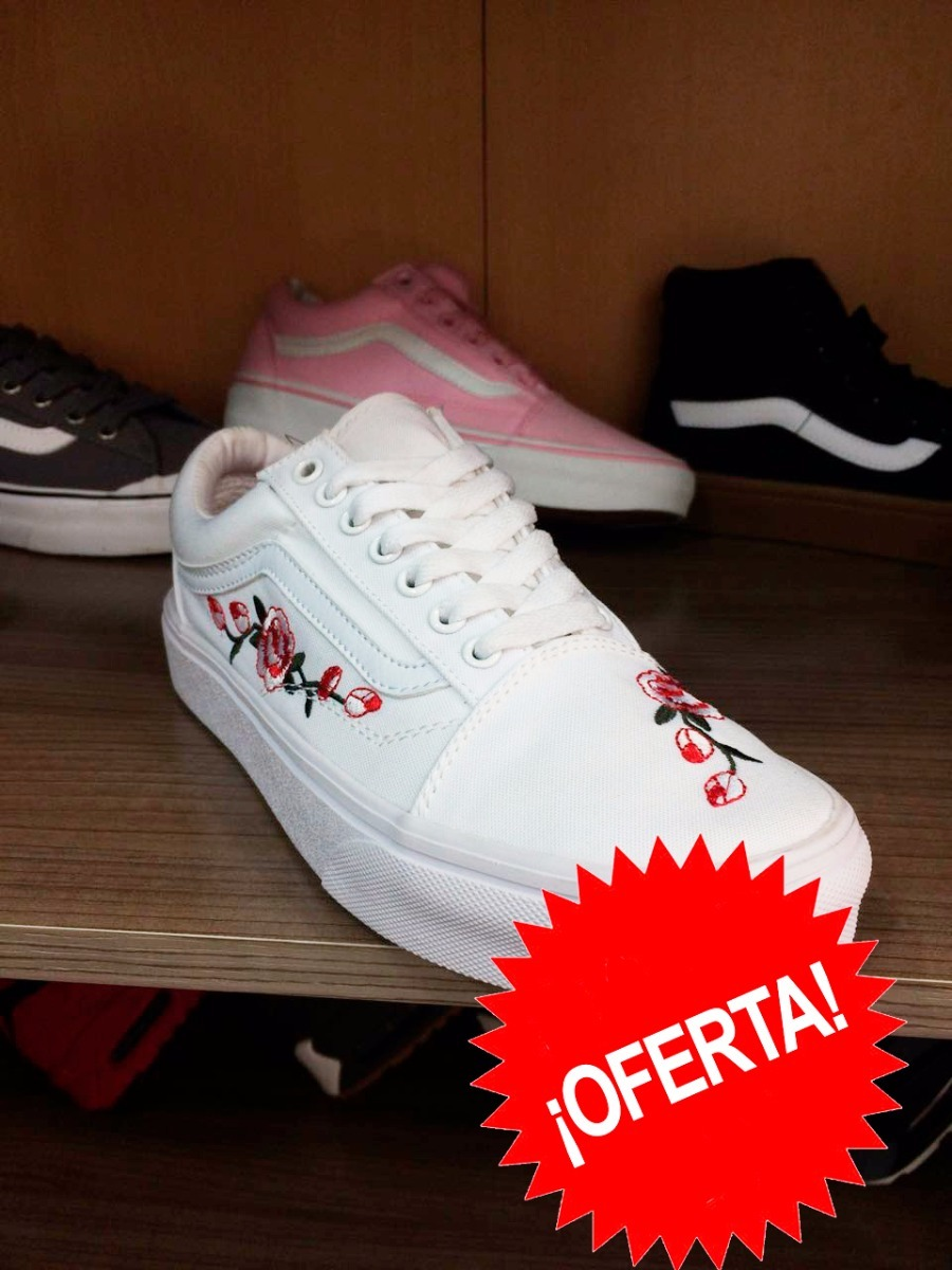vans old skool con flores
