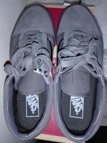 zapatillas vans old skool gunmetal, nuevas, talla 40