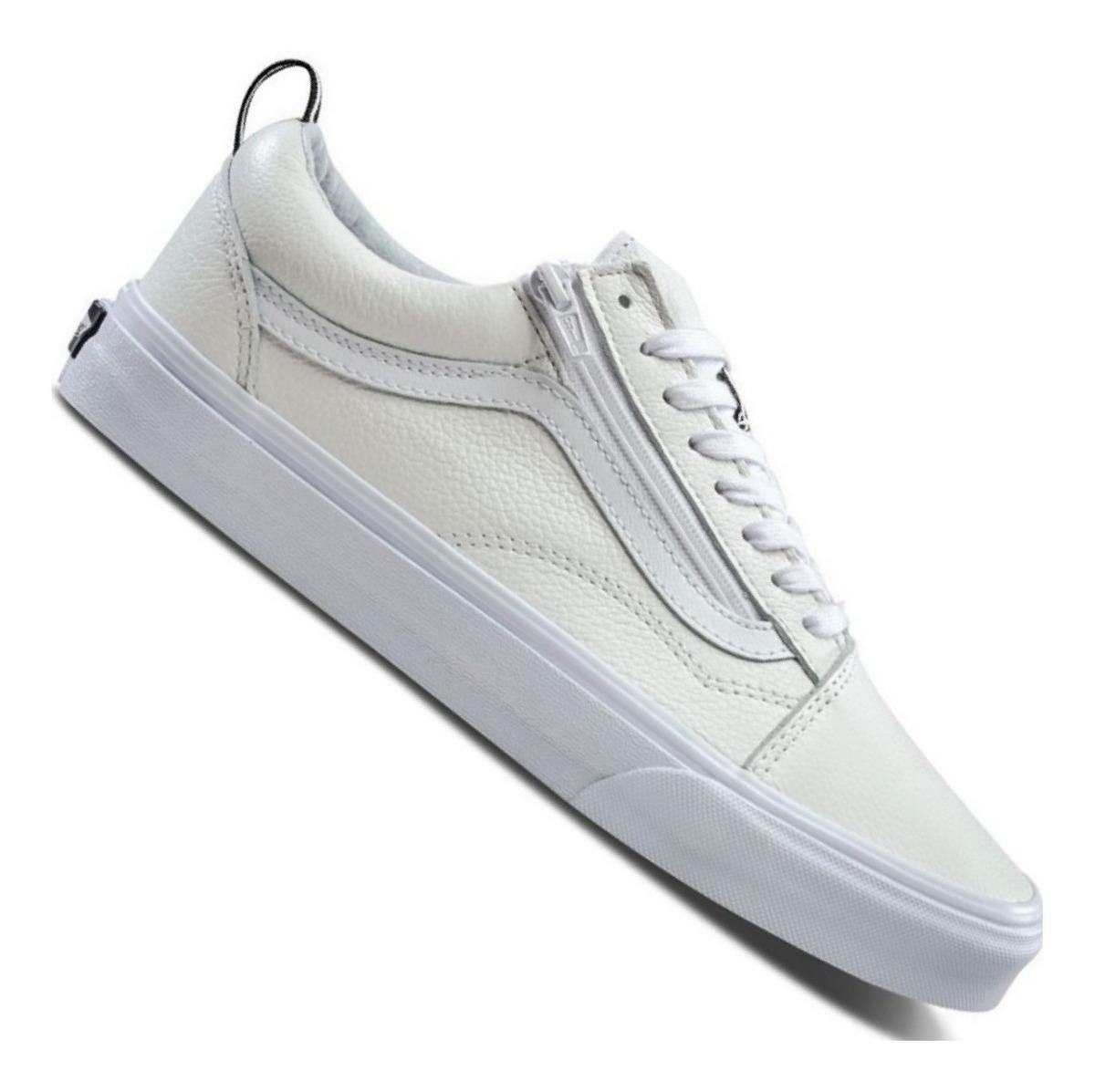 zapatillas vans blancas piel hombre