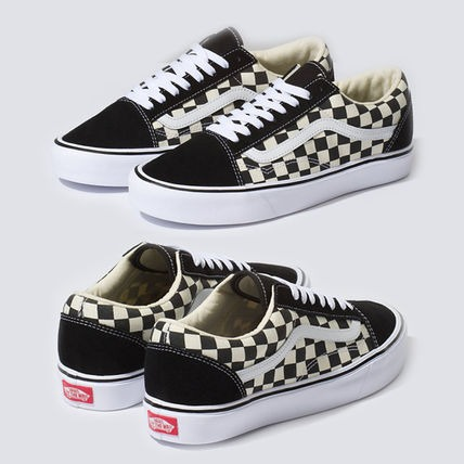 Zapatillas Vans Old Skool Lite, Cuadriculadas Beige, Black.