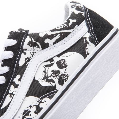 Zapatillas Vans Old Skool Negro Blanco Calaveras Craneo