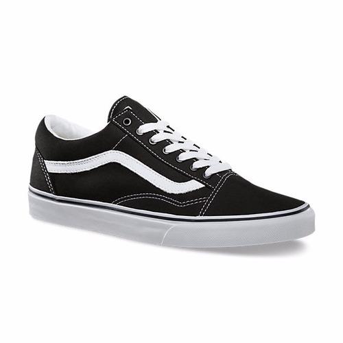 zapatillas vans old skool negro /blanco original - envíos