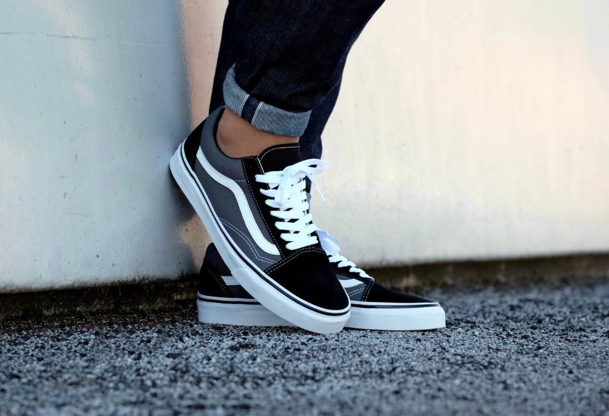 849f4ea1a zapatillas vans old skool pewter black gris negro 28947. Cargando zoom.
