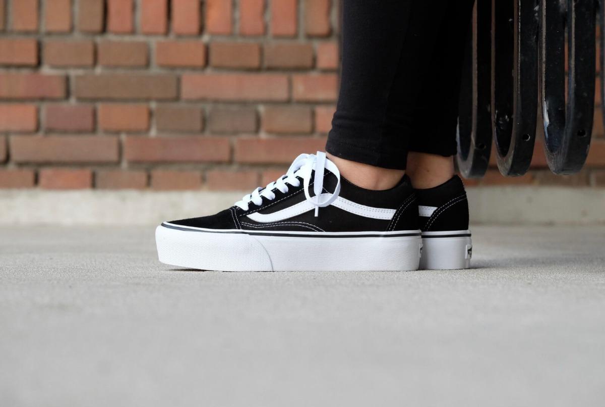 zapatillas vans negras mujer plataforma