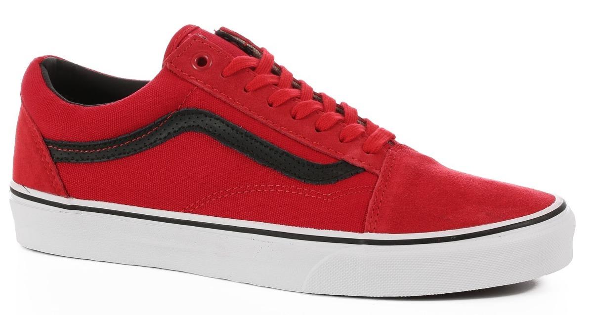 zapatillas vans old school rojas