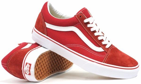 zapatillas vans rojas de hombre