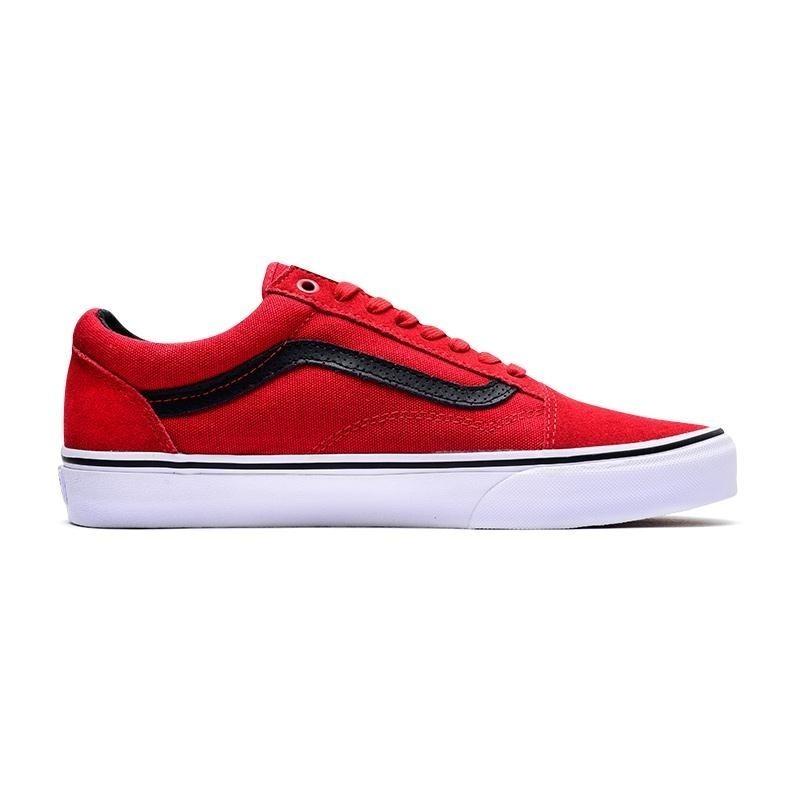 zapatillas vans old skool rojas linea negra gamuza cuero. Cargando zoom. bc5574924e0