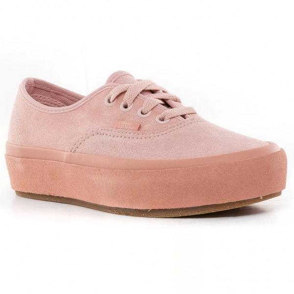 vans plataforma mujer rosas