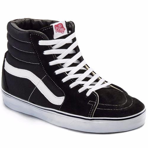 zapatillas vans sk8 hi negras hombre talle 46